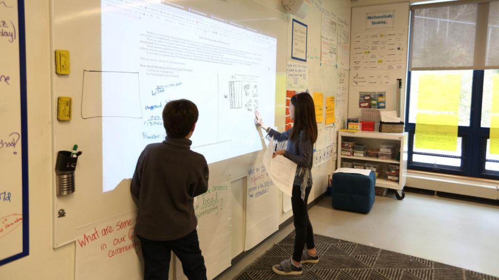 A fifth grade classroom.