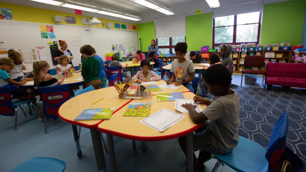A second grade classroom.